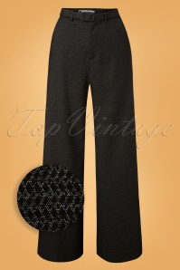 40s Dorothy Pants in Black and Silver
