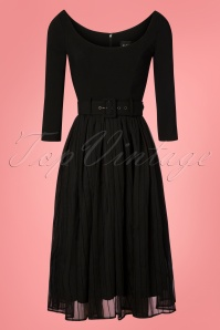 50s Marla Swing Dress in Black
