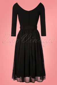 Collectif Clothing Marla Swing Dress Black 102 10 24809 20181102 0319W
