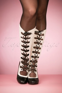 Banned Black and White Boots 440 59 26192 10242018 007W