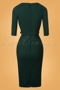Collectif Clothing Meadow Pencil Dress in Green 24893 20180627 0010W