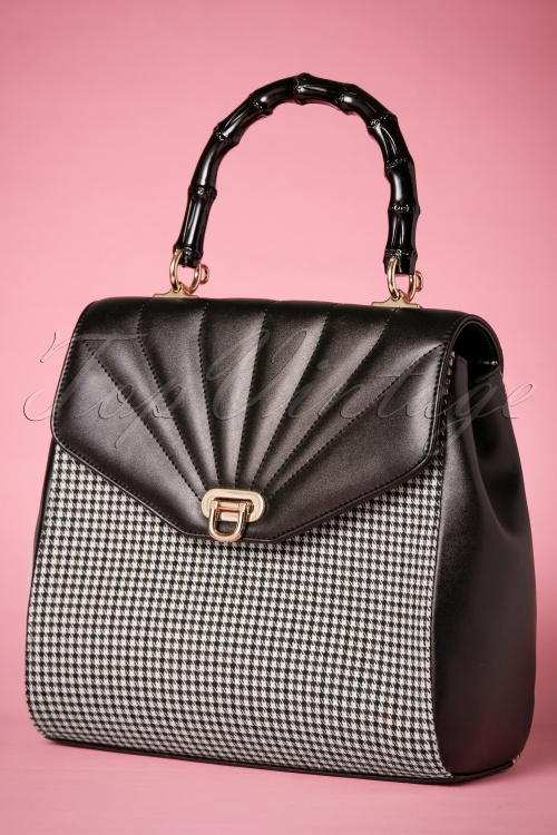 1b819f1ccf44 Banned Bamboo Black and White Handbag 212 14 26170 07092018 007W