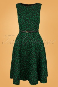 Closet Londen Swingdress Sparkle Green 102 49 28440w