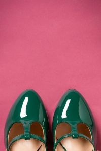 Lulu Hun Green T strap Pumps 401 40 25598 07262018 003