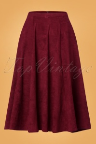 Collectif Clothing Wine 70's Matilde Swing Skirt 122 20 24848 20180626 003W