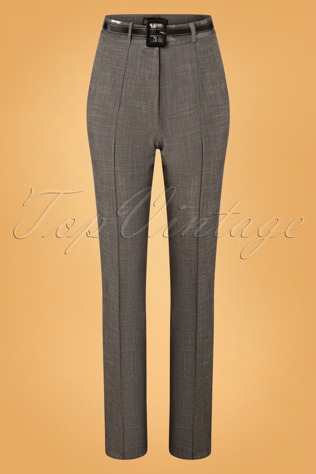 1950s Pants History for Women 50s Ash Pencil Pants in Grey £89.97 AT vintagedancer.com