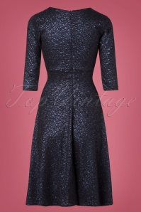 Vintage Chic Navy Lace Swing Dress 102 31 28017 20181025 008W