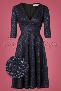 Vintage Chic Navy Lace Swing Dress 102 31 28017 20181025 002Z