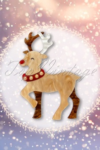 TopVintage exclusive ~ 50s Guide My Sleigh Brooch