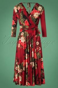 Vintage Chic Slinky Print 3 4 Sleeve Floral 102 27 26443 20181102 0407W
