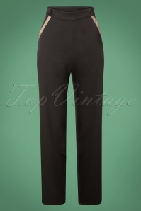 Banned Retro Black Contrast Pants 131 10 26147 20181105 0455W