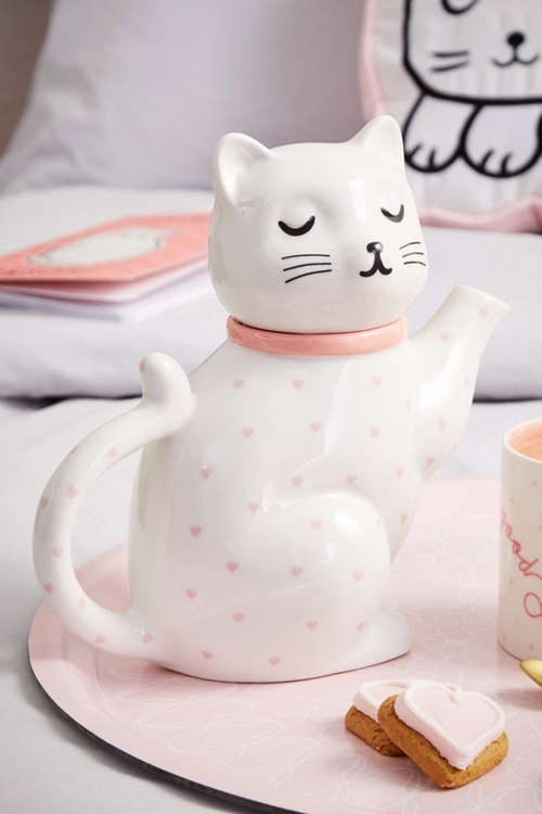 Sass and Belle Cutie Cat Ceramic Teapot 290 50 27785