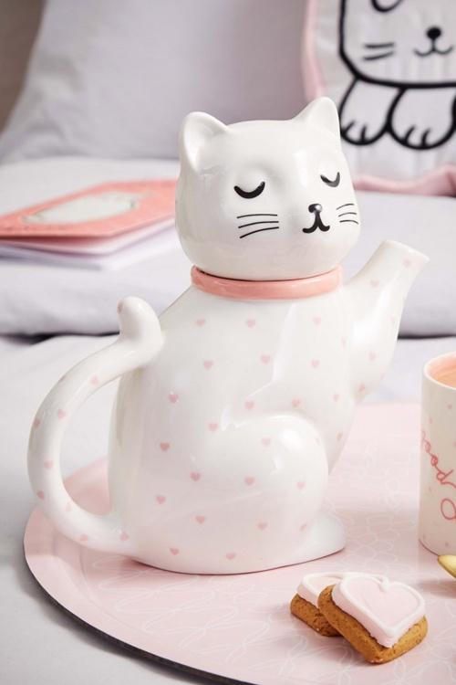 Sass and Belle Cutie Cat Ceramic Teapot 290 50 27785