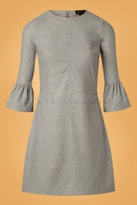 Bright and Beautiful 60s Emily Dress in Grey