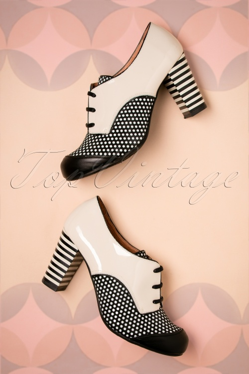Nemonic Madison Booties in Black and White 430 59 27806 11072018 023W