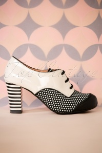 Nemonic Madison Booties in Black and White 430 59 27806 11072018 016W