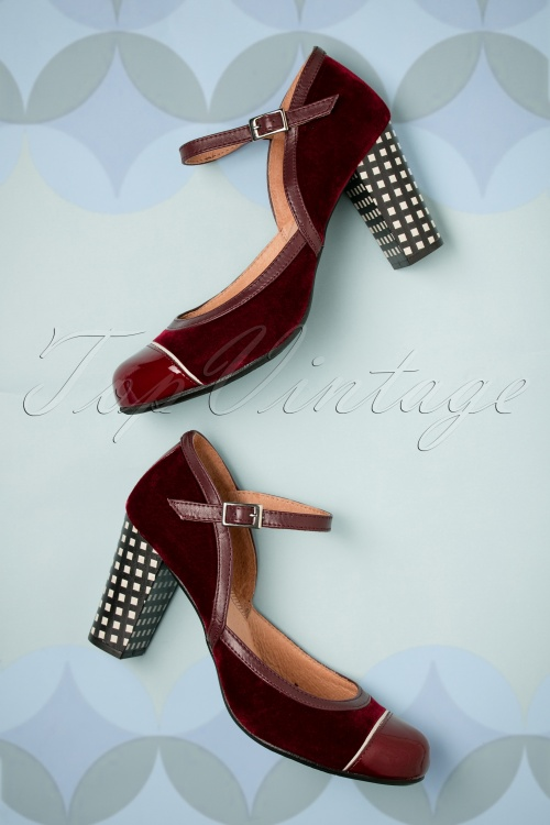Nemonic Bordeaux Mary Jane Pumps 402 27 27808 11072018 013W