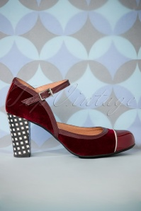 Nemonic Bordeaux Mary Jane Pumps 402 27 27808 11072018 004W