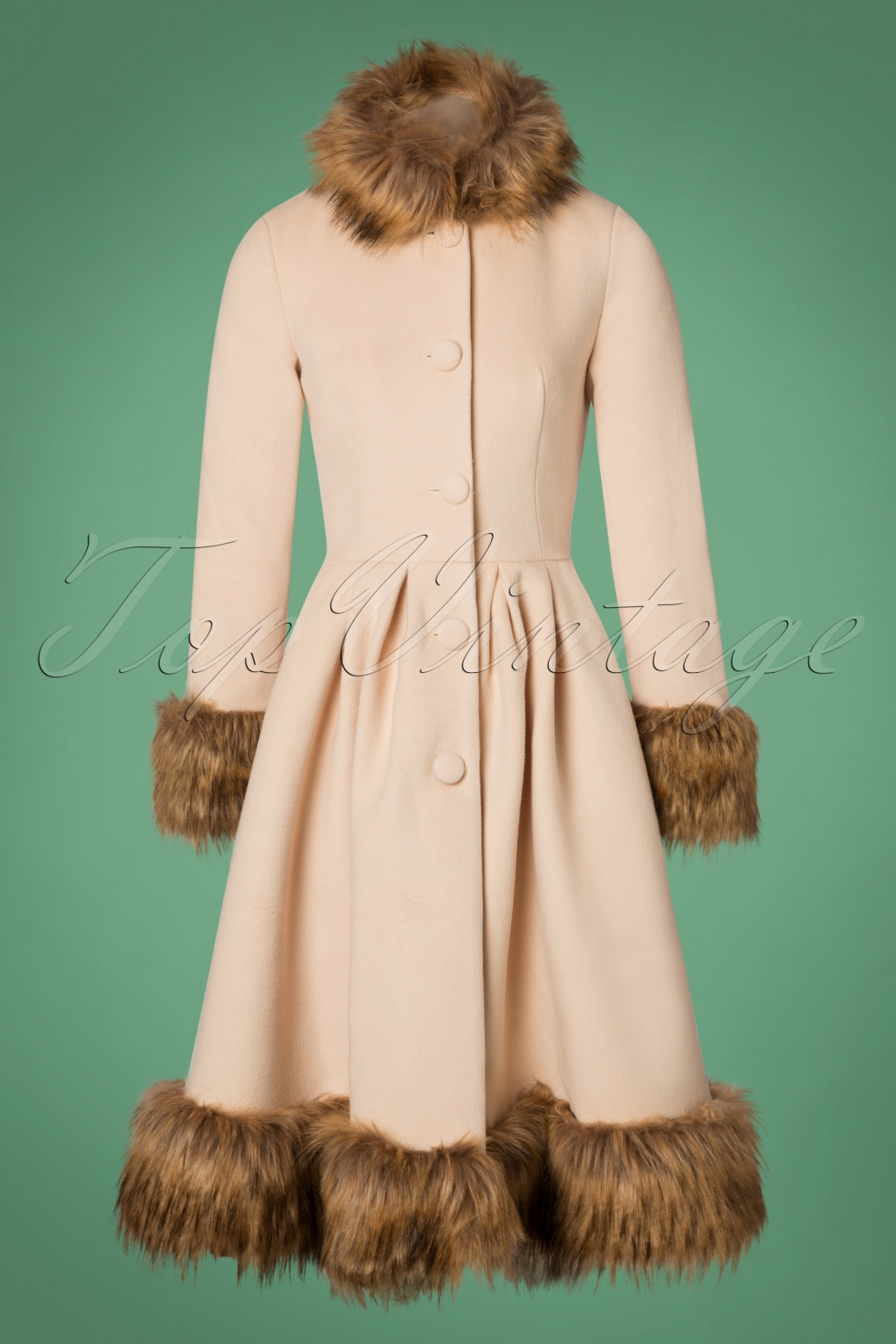 What Did Women Wear in the 1950s? 1950s Fashion Guide 50s Elsie Coat in Cream £117.48 AT vintagedancer.com