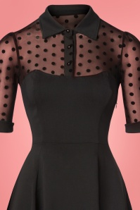 Collectif Clothing Wednesday Skater Dress Black Polkadot 102 10 24903 20181105 0460bkg