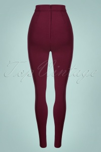 Collectif Clothing Wine 50s Cece Trousers 131 20 24878 20180628 009w