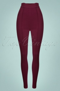 Collectif Clothing Wine 50s Cece Trousers 131 20 24878 20180628 002w