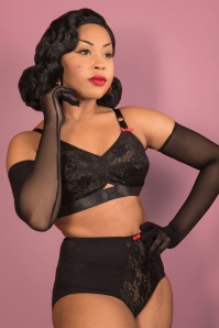 What Katie Did 50s Lulu Noir High Waist Knickers in Black