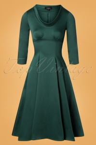 50s Martha Swing Dress in Green