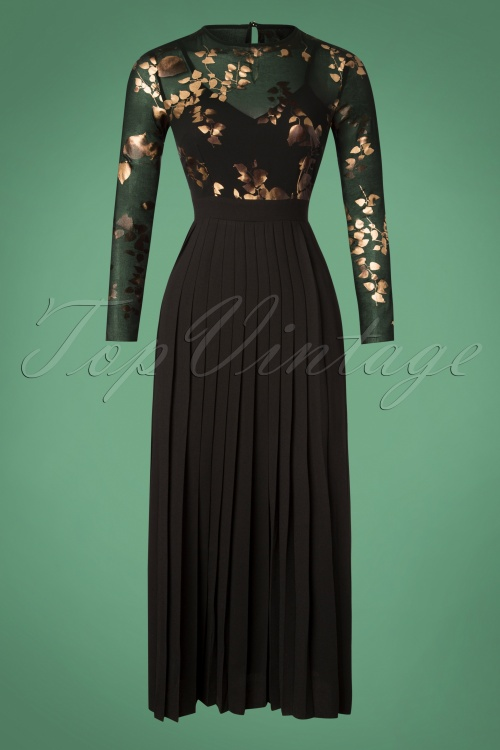 Little Mistress Black Floral Maxi Dress 108 14 26427 20181108 004W