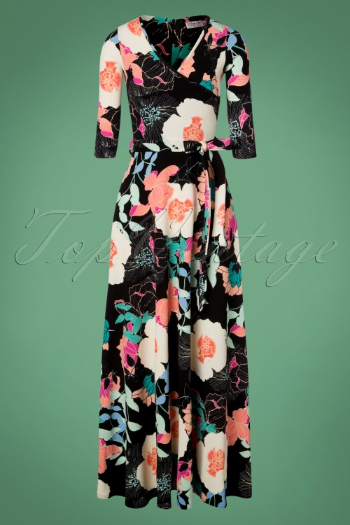 Vintage Chic Waterfall Crepe Black Flower 108 14 28046 20181109 0706W