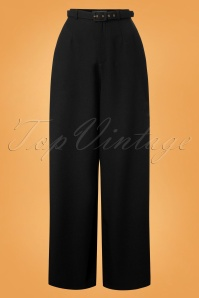 Collectif Clothing Vicky Crepe Trousers in Black 27504 20180628 0002W
