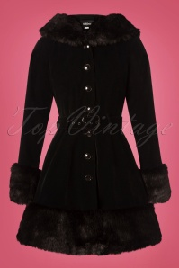 Colletif Clothing Black 50s Laila Velvet coat 152 10 24772 20180704 004W