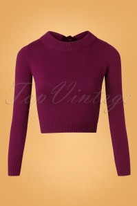 Collectif Clothing 50s Tracy Jumper in Wine