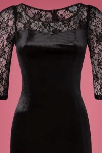 Hearts & Roses Velvet Lace Black Dress 100 10 26947 20181109 07201V