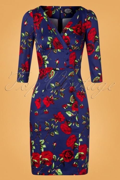 Hearts & Roses Blue and Red Dress 100 39 26955 20181109 0738W