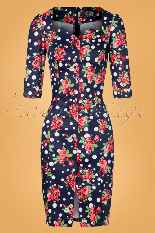 Hearts & Roses Navy Flower Dress 100 39 26942 20181109 0727W