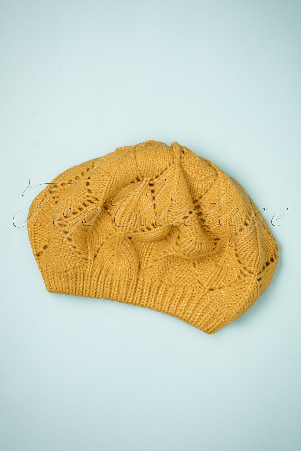 Women's Vintage Hats | Old Fashioned Hats | Retro Hats 70s Betty Beret in Ochre £17.68 AT vintagedancer.com