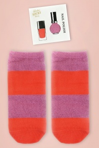 Nail Polish Socks in Pink