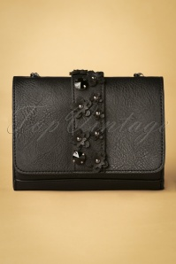 Genshii Black Clutch Flowers 212 10 26638 01W