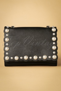 50s Pearls Shoulderbag in Black