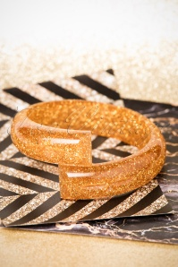 TopVintage Exclusive ~ Glitter Bangle Années 50 en Doré