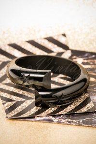 TopVintage Exclusive ~ Fab-a-lite Bangle Années 50 en Noir