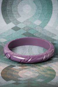 TopVintage Exclusive ~ 50s Small Bangle in Dark Purple