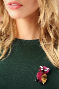 The Pink Bungaloo Owl Brooch 340 29 26637 11012018 003W