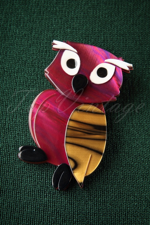 The Pink Bungaloo Owl Brooch 340 29 26637 11012018 002W