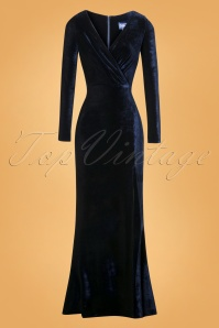 Colletif Clothing Navy Lexie Velvet Dress 108 31 24802 20180628 006W
