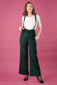 40s Glinda Trousers in Green