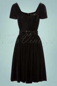 Colletif Clothing Black Gilly Velvet Swing Dress 102 10 24808 20180627 012W