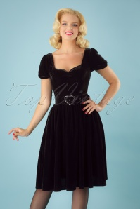 Colletif Clothing Black Gilly Velvet Swing Dress 102 10 24808 20180627 1W