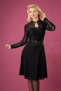 Vixen Black Dita Dress Lace 102 10 25009 01W
